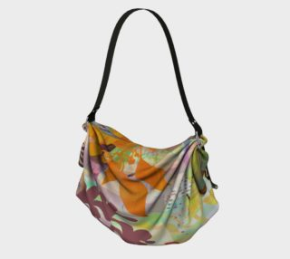 Verdant Garden in Golds Origami Tote by Deloresart preview