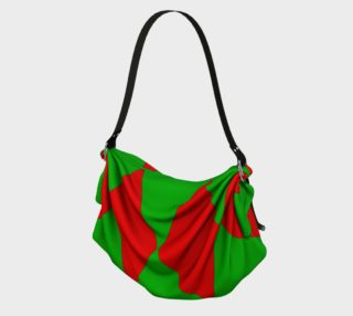 Christmas Harlequin Diamond Origami Tote preview