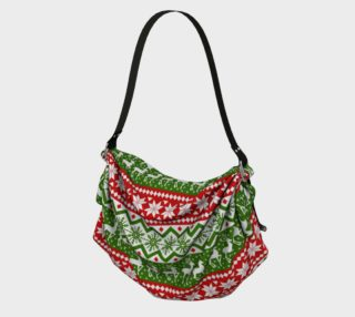 Ugly Christmas sweater tote preview