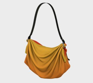 Fiery Sunset Origami Tote Bag preview