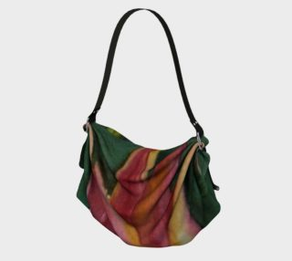 RED and ORANGE TULIP PETALS in WATERCOLOR Origami Tote Bag preview