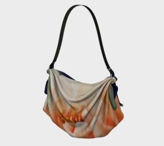 ORANGE WATERLILY in WATERCOLOR Origami Tote Bag preview
