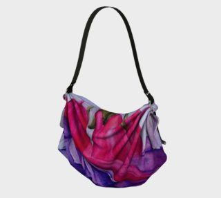 FUCHSIA FLOWER in WATERCOLOR Origami Bag preview