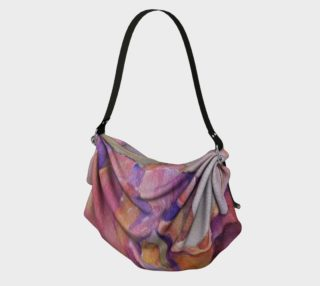 PINK IRIS PETALS in WATERCOLOR Origami Bag preview
