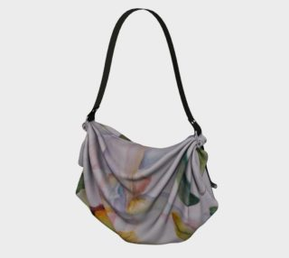 WHITE IRIS PETALS in WATERCOLOR Origami Bag preview