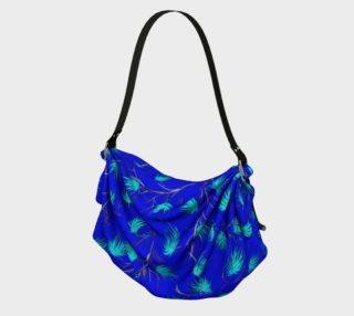 Blue Floral Pattern Origami Bag preview