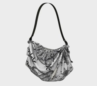 Mandala Dragonfly Fibonacci Floral Origami Bag preview