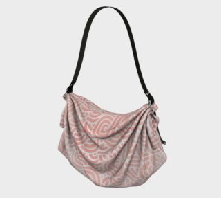 Rose quartz and white swirls doodles Origami Tote preview