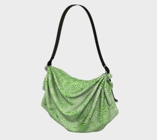 Greenery and white swirls doodles Origami Tote preview