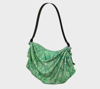 Green foliage Origami Tote preview