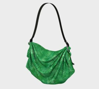 Bright green swirls doodles Origami Tote preview