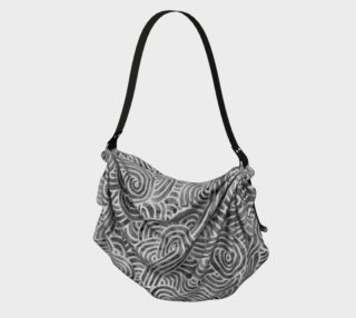 Grey and white swirls doodles Origami Tote preview