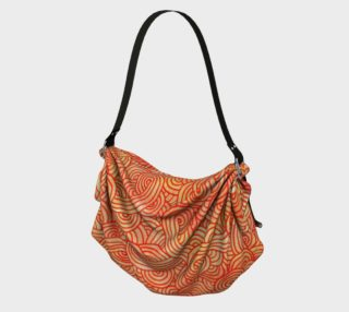 Orange and red swirls doodles Origami Tote preview