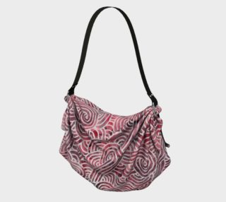 Red and white swirls doodles Origami Tote preview