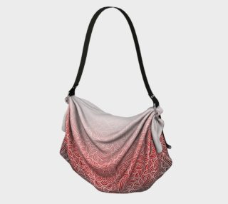 Ombre red and white swirls doodles Origami Tote preview