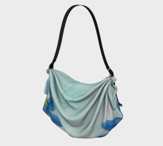 Simply Blue Flowers Origami Tote preview
