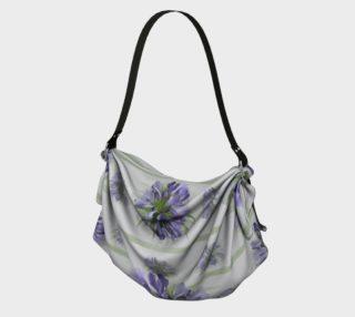 Aperçu de Blue-purple floral watercolor