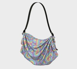 Rainbow and white swirls doodles Origami Tote preview