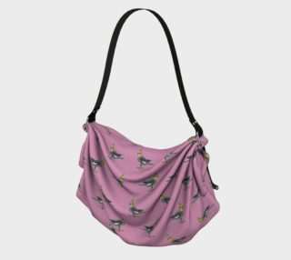 Cockateel birds pattern Origami Tote preview