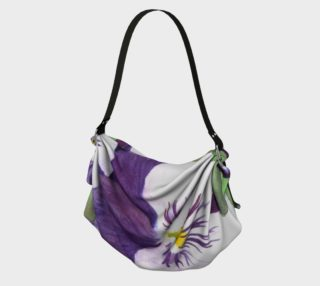 Purple and white pansies flowers Origami Tote preview