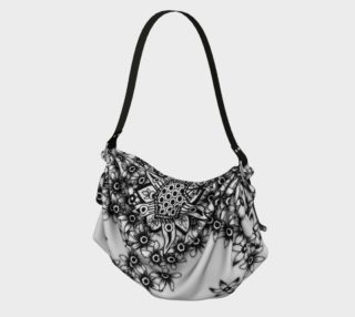 Honeycomb Floral Hobo Crossbody Bag preview