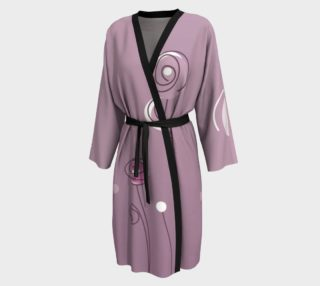 Purple Abstract Flowers Peignoir robe preview