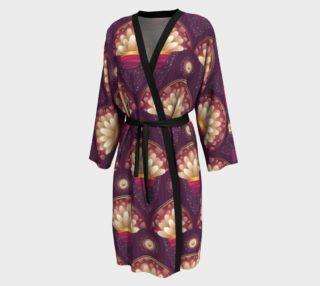 Purple and Beige Scallops Peignoir robe preview