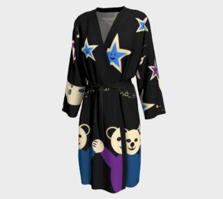Purple and Blue Sleepy Bears Peignoir robe preview
