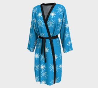 Snowflake pattern blue peignoir preview