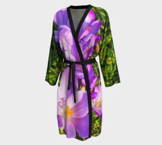 Purple Spring Crocus Peignior robe preview