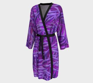 Purple Feathers Peignoir robe preview