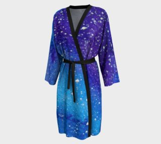 Space Cadet Galaxy Blue and Purple Peignoir preview