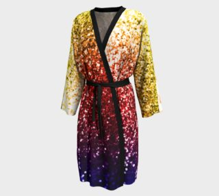 Rainbow Glitter Graphic Robe preview