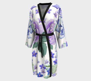 Lavender Floral Peignoir aperçu