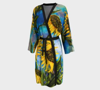 Sunflower and Blue Swirl Long Robe preview