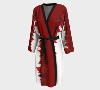 Red Maple Leaf Robe Canada Peignoir Robes preview