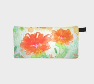 Coral Floral Pencil Case by Deloresart preview