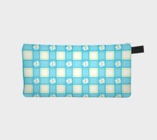 Daisies on Blue Gingham Plaid preview