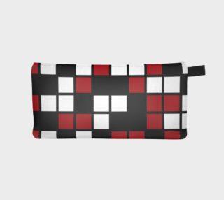 Aperçu de Dark Red, Black, and White Random Mosaic Squares