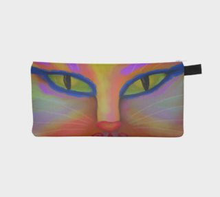 Colorful Cat Face Abstract Art preview