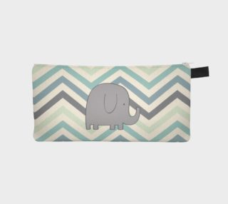 Elephant and chevron - pencil case preview