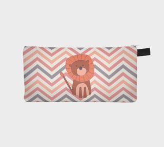 Chevron lion - pencil case preview