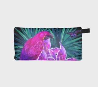 Tropical Parrot pencil case preview