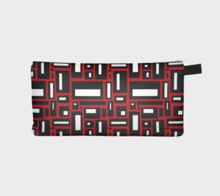 Simple Geometric in Black, White and Red 1 preview