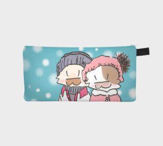 Aperçu de Happy Kitty Cat Couple - Snowing
