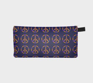 Rainbow Peace Sign Pencil Case preview