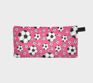 Pink soccer balls preview