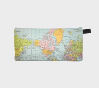 World Map Zip Pouch preview