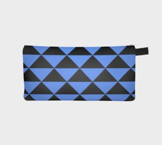 Aperçu de Black and Cornflower Blue Triangles
