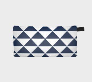 Aperçu de Navy Blue and White Triangles